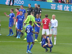 The final whistle goes (lcfcian1) Tags: manchester united leicester city mufc lcfc old trafford stadia stadium ground footy epl bpl premier league manchesterunited leicestercity oldtrafford premierleague benchilwell jamievardy kasperschmeichel caglarsoyuncu jonnyevans harrymaguire