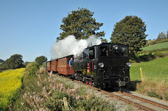 Steam locomotive No. 2 'Zillertal' drifts down the 1 in 29 Golfa Bank with the morning service for Welshpool Raven Square on the W&LLR. (Chuffer Haynes) Tags: linz austria steam locomotive mav zillertal no2 uclass light railway llanfair welshpool krauss golfa