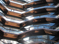 2019 Visiting Inside The Vessel Hudson Yards NYC 2195 (Brechtbug) Tags: 2019 september visiting top the vessel sculpture hudson yards tower near 34th street midtown manhattan new york city nyc 09212019 west side construction center cityscape art architecture urban landscape scape view cityview shadow silhouette 21st close up skyline skyscraper railroad rail yard train amtrak tracks below grown stair stairs buildings above staircase dingus fall autumn climb climbing down