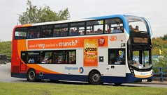 Photo of Stagecoach Manchester 10613 SN16OWR working a 38 service at Salford Shopping City.