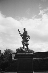 On Guard (bigalid) Tags: film 35mm olympus af10 super ilford xp2 june 2019 bw stirling statue