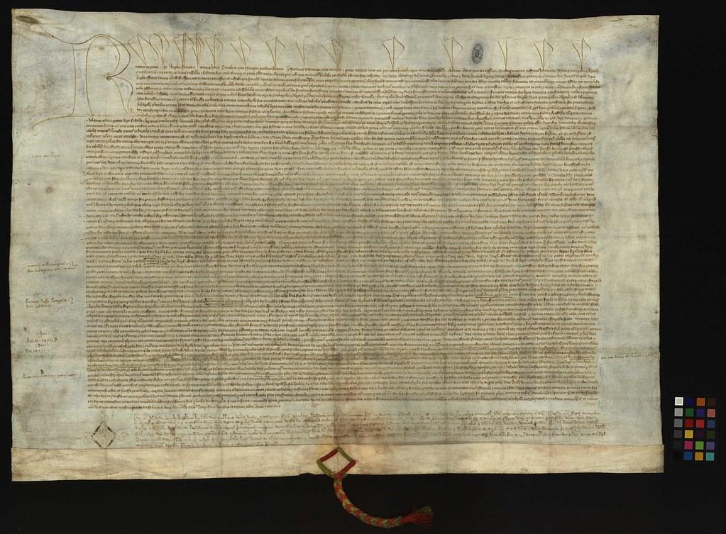 Imagem XXII - Um fólio do Tratado de Windsor (1380)