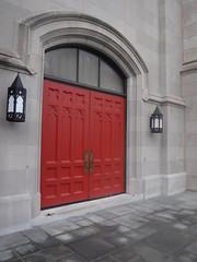 DSCF9043 (alnbbates) Tags: september2019 tulsa oklahoma fujifirlm firstpresbyterianchurch doorway reddoor ruby red