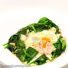 Steamed egg, wilted spinach, and crispy Coon™ (garydlum) Tags: cheese cooncheese egg eggs spinach canberra australiancapitalterritory australia