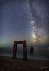 Gateway to Eternity (Selectivebits) Tags: night sky galaxy star sea water california davenport naturebynikon 80 nikon
