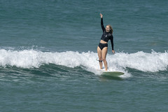 DSC02485 (slackest2) Tags: surfing surfboard surfer sea ocean waves water swell queensland coast longboard mal girlie girl coloundra