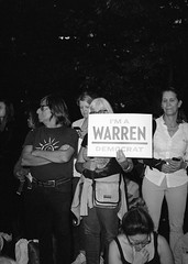Elizabeth Warren NYC September 16, 2019 (triebensee) Tags: bronica rf645 zenzanon 65mm f4 kodak400tx kodaktrix400 kodakhc110 dilutionh epsonv700 film