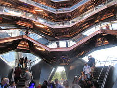 2019 Visiting Inside The Vessel Hudson Yards NYC 2199 (Brechtbug) Tags: 2019 september visiting top the vessel sculpture hudson yards tower near 34th street midtown manhattan new york city nyc 09212019 west side construction center cityscape art architecture urban landscape scape view cityview shadow silhouette 21st close up skyline skyscraper railroad rail yard train amtrak tracks below grown stair stairs buildings above staircase dingus fall autumn climb climbing down