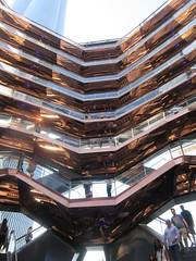 2019 Visiting Inside The Vessel Hudson Yards NYC 2198 (Brechtbug) Tags: 2019 september visiting top the vessel sculpture hudson yards tower near 34th street midtown manhattan new york city nyc 09212019 west side construction center cityscape art architecture urban landscape scape view cityview shadow silhouette 21st close up skyline skyscraper railroad rail yard train amtrak tracks below grown stair stairs buildings above staircase dingus fall autumn climb climbing down