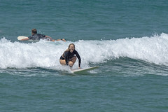 DSC02484 (slackest2) Tags: surfing surfboard surfer sea ocean waves water swell queensland coast longboard mal girlie girl coloundra