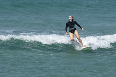 DSC02486 (slackest2) Tags: surfing surfboard surfer sea ocean waves water swell queensland coast longboard mal girlie girl coloundra