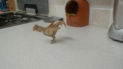 Rooster designed by Satoshi Kamiya folded by me (webb.colin.1) Tags: rooster origami satoshi kamiya