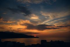 SadFall_29 (SadFo_x1) Tags: sky sun clouds sunset light color colors blue orange yellow water sea aegean nature landscape remembrance samos greece