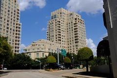 Dallas Scenes 11 09.21.19(1) (Gene Ellison) Tags: city dallas texas buildings glass steel brick reflections cityscape street photography sky clouds fujifilm velvia sooc