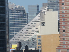 Landmark Cinemas Theater on 625 West 57th St Seen From Hudson Yards NYC 1989 (Brechtbug) Tags: 2019 september visiting top the vessel sculpture hudson yards tower near 34th street midtown manhattan new york city nyc 09212019 west side construction center cityscape art architecture urban landscape scape view cityview shadow silhouette 21st close up skyline skyscraper railroad rail yard train amtrak tracks below grown stair stairs buildings above staircase dingus fall autumn climb climbing down landmark cinemas theater 625 57th st seen from