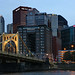 Dusk view of downtown Pittsburgh