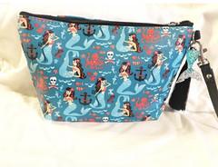 Mermaid pinup Cosmetic bag (atomic41) Tags: mermaid nautical pinup retro teal makeup cosmetic bag atomic kitten handmade vintage