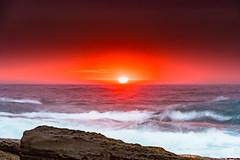Bold Overcast Sunrise Rocky Seascape (Merrillie) Tags: daybreak landscape theskillion waves nature dawn terrigal waterscape overcast water weather newsouthwales clouds earlymorning nsw sunrise sky ocean morning sea rocky coastal rocks outdoors seascape coast centralcoast cloudy australia