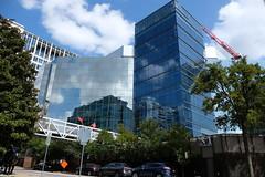 Dallas Scenes 10 09.21.19(1) (Gene Ellison) Tags: city dallas texas buildings glass steel brick reflections cityscape street photography sky clouds fujifilm velvia sooc