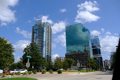 Dallas Scenes 06 09.21.19(1) (Gene Ellison) Tags: city dallas texas buildings glass steel brick reflections cityscape street photography sky clouds fujifilm velvia sooc