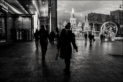 16drb0482 (dmitryzhkov) Tags: urban city everyday public place outdoor life human social stranger documentary photojournalism candid street dmitryryzhkov moscow russia streetphotography people man mankind humanity bw blackandwhite monochrome night nightphotography lowlight morning