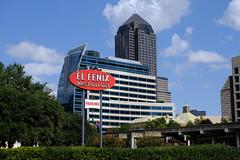 Dallas Scenes 12 09.21.19(1) (Gene Ellison) Tags: city dallas texas buildings glass steel brick reflections cityscape street photography elfenix sigh sky clouds fujifilm velvia sooc