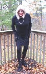 The future looks black - 6 (donnacd) Tags: legs feet heels toes sissy tgirl tgurl slut dressing crossdress crossdresser cd travesti transgenre xdresser crossdressing feminization tranny tv ts feminized jumpsuit domina blouse satin lingerie touchy feely he she look 易装癖 シー clit