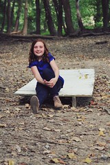 Addison in the Forest (jada_gaskill) Tags: fall trees smile leaves girl