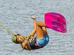 Girl on a wakeboard in flight from a springboard   XOKA6532ss (Phuketian.S) Tags: girl sport flight wakeboard board wake water pond lake sea spingboard phuket thailand travel training helmet profi professional young sexy bikini tan tanned woman asia asian thai phuketian happyplanet asiafavorites