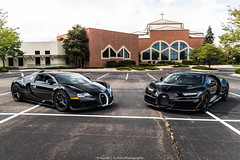 Bugattis (Hunter J. G. Frim Photography) Tags: supercar hypercar colorado bugatti black awd w16 french turbo carbon coupe nocturne veyron chiron bugattiveyron bugattichiron photoshoot