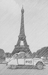 Paris August 2019 (jetzgetzab (Gerhard :)) Tags: jetzgetzab paris citroen 2cv tour eiffel tower france frankreich