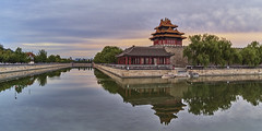 P0001072 Beijing Trip - 12-Sep-2019 to 15-Sep-2019 (f/13 photography) Tags: phase one phaseone iq4 iq4150 150mp 150mpx alpa 12max max technical camera digital back medium format rodenstock wide angle sunrise long exposure clouds weather forbidden city palace museum corner building tower river water beijing moving cityscape architecture imperial classic chinese vintage red walls