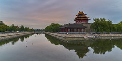 P0001039 Beijing Trip - 12-Sep-2019 to 15-Sep-2019 (f/13 photography) Tags: phase one phaseone iq4 iq4150 150mp 150mpx alpa 12max max technical camera digital back medium format rodenstock wide angle sunrise long exposure clouds weather forbidden city palace museum corner building tower river water beijing moving cityscape architecture imperial classic chinese vintage red walls