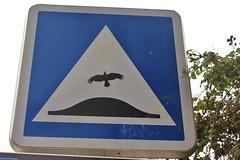 Clet_3720 Pont Croix (meuh1246) Tags: streetart bretagne finistère 29 cletabraham clet panneau animaux oiseau pontcroix
