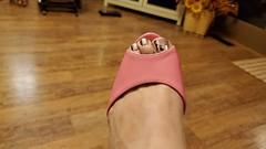 Pink heels (Lisah Ann) Tags: pinkheels pinkhighheels pinkstilettos feet toes mirrortoenails footfetish