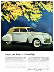 1938 Lincoln-Zephyr Convertible Sedan (aldenjewell) Tags: 1938 lincoln zephyr convertible sedan ad