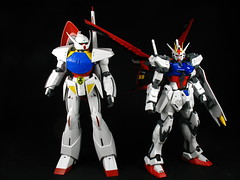 Turn A & Strike Gundam (seanmonster) Tags: turn aile strike gundam mobile suit gunpla mecha