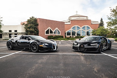 Brothers (Hunter J. G. Frim Photography) Tags: supercar hypercar colorado bugatti black awd w16 french turbo carbon coupe nocturne veyron chiron bugattiveyron bugattichiron photoshoot