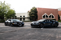 Church Goers (Hunter J. G. Frim Photography) Tags: supercar hypercar colorado bugatti black awd w16 french turbo carbon coupe nocturne veyron chiron bugattiveyron bugattichiron photoshoot