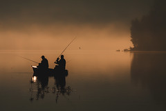 Hold the Hook II (Bonnie And Clyde Creative Images) Tags: landscape poland europe fishing lake sunrise autumn canon