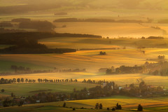 The Light, Golden Light Transforms... (Bonnie And Clyde Creative Images) Tags: landscape poland europe mountains sunrise canon mist morning