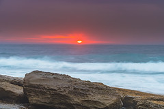 Moody Sunrise Rocky Seascape (Merrillie) Tags: daybreak theskillion rocky morning nature water terrigal sea overcast waterscape weather newsouthwales rocks earlymorning nsw coast landscape ocean dawn cloudy sunrise coastal clouds outdoors seascape australia centralcoast waves sky