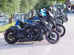 Harley d (davidewizard) Tags: harley davidson road glide vrod marche italy car street police bmw