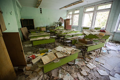 School Classroom - Pripyat - 11/09/2019 (kevaruka) Tags: chernobyl exclusion zone 911 pripyat dodgems bumper cars bw nuclear disaster urban photography black white ga mask canon eos 5d mk3 ef 1635 f28 mk2 wide angle uwa ultra ukraine 5d3 5diii doll gas dof depth people photoadd television flickr front page kevin frost composition colour colours color colors contrast school september 2019 11092019 indoor kiev ferris wheel fair amusement park fun tram corridor sun sunshine sunny day duga radar