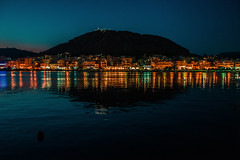 Island sunset........ (Dafydd Penguin) Tags: night lights sunset water reflections sea town harbour harbor waterside quayside evening salamis island saronic gulf aegean mediterranean greece athens leica m10 summicron 35mm f2 asph