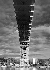 IMG_4721b - Over the river.. (ragnarfredrik) Tags: bridge fredrikstad bw sh construction clouds