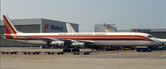 DC-8   N812CK   AMS   19950708 (Wally.H) Tags: mcdonnell douglas dc8 n812ck kalitta americaninternationalairways cargo ams eham amsterdam schiphol airport
