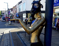 Something you don't see every day (Tony Worrall) Tags: preston lancs lancashire city welovethenorth nw northwest north update place location uk england visit area attraction open stream tour country item greatbritain britain english british gb capture buy stock sell sale outside outdoors caught photo shoot shot picture captured ilobsterit instragram photosofpreston mannequin dummy friargate street strange mask female quirky