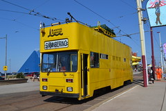 Blackpool Transport Engineering 754 (Will Swain) Tags: blackpool during bank holiday gold running day 25tth august 2019 tram trams light rail railway rails transport travel europe transportation city lancashire coast engineering 754