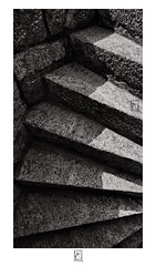 Shadow and light on stairs (krishartsphotography) Tags: krishnansrinivasan krishnan srinivasan krish arts photography fine art fineart monochrome blackandwhite granite stone steps gingee rajagiri fort affinity photo silver efex pro dxo fuji xpro2 opteka 12mm f28 tamilnadu india
